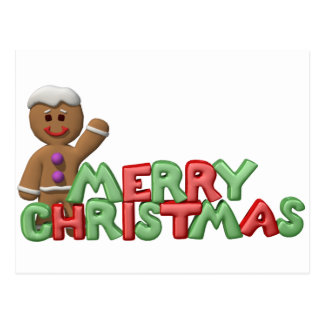 Christmas Gingerbread Cookie Postcards