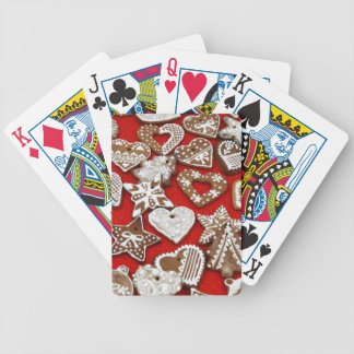 Christmas Gingerbread Cookies Bicycle Playing Cards