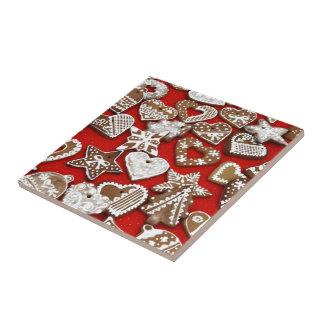 Christmas Gingerbread Cookies Ceramic Tile