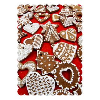 Christmas Gingerbread Cookies Flat Card