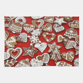 Christmas Gingerbread Cookies Hand Towel