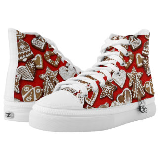 Christmas Gingerbread Cookies High Tops Shoes
