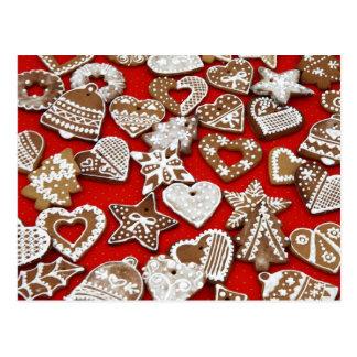 Christmas Gingerbread Cookies Postcard