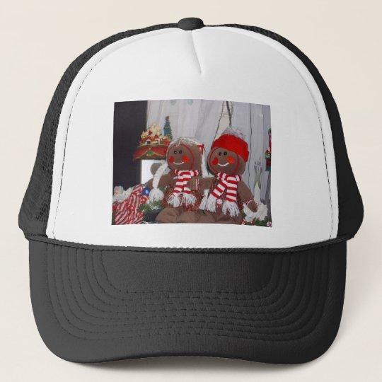 Christmas Gingerbread Couple Trucker Hat
