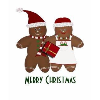 Christmas Gingerbread Couple Tshirt shirt