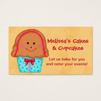 Christmas Gingerbread Cupcake Catering Baking Business Card