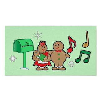 Christmas Gingerbread Family: Mom, Dad and Baby Posters