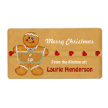 """Christmas Gingerbread from the Kitchen of Labels<br><div class=""""desc"""">Christmas Gingerbread theme from the Kitchen of Labels for all those wonderful cooks who gift us with tasty treats at the holidays. Cute Gingerbread theme is ready for you to customize with your name or other text. More festive """"from the kitchen of"""" designs in my store.</div>"""