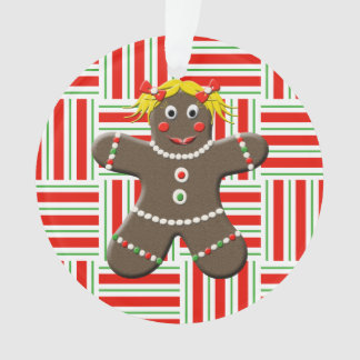 Christmas Gingerbread Girl Woman Custom Year Ornament
