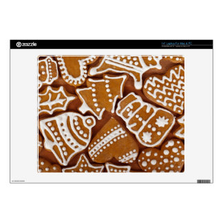 """Christmas Gingerbread Holiday Cookies 14"""" Laptop Decal"""
