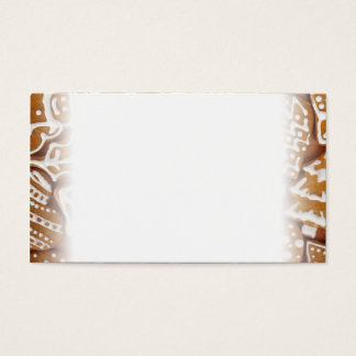 Christmas Gingerbread Holiday Cookies Business Card