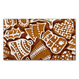 Christmas Gingerbread Holiday Cookies Business Card Magnet