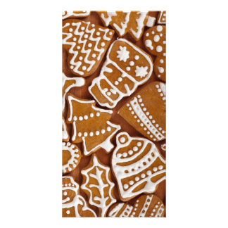 Christmas Gingerbread Holiday Cookies Card