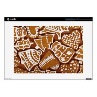 Christmas Gingerbread Holiday Cookies Laptop Skins