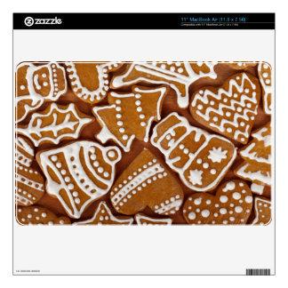 Christmas Gingerbread Holiday Cookies MacBook Air Decals