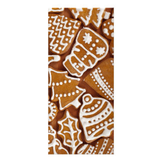 Christmas Gingerbread Holiday Cookies Rack Card