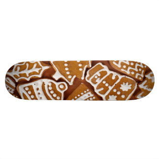 Christmas Gingerbread Holiday Cookies Skateboard