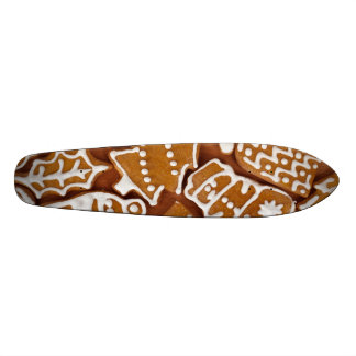 Christmas Gingerbread Holiday Cookies Skateboard Deck