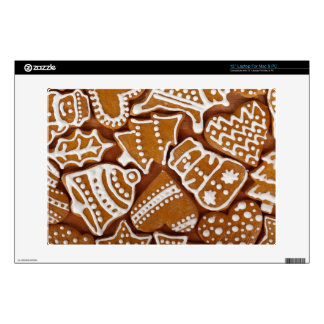 Christmas Gingerbread Holiday Cookies Skin For Laptop