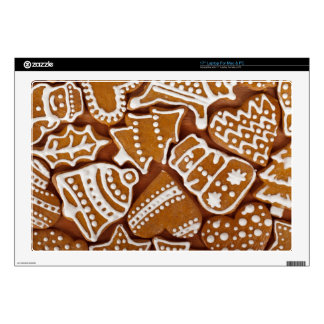 Christmas Gingerbread Holiday Cookies Skins For Laptops
