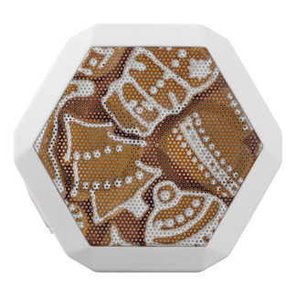 Christmas Gingerbread Holiday Cookies White Bluetooth Speaker