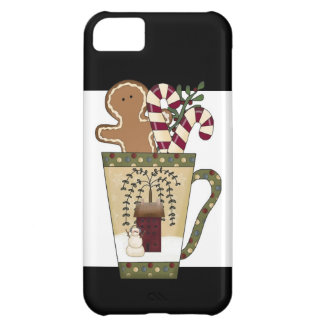 Christmas Gingerbread Holiday Greetings Case For iPhone 5C
