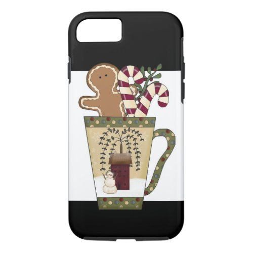 Christmas Gingerbread Holiday Greetings iPhone 87 Case