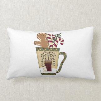 Christmas Gingerbread Holiday Greetings Pillows