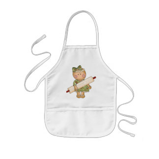 Christmas Gingerbread Holiday Kitchen apron kids