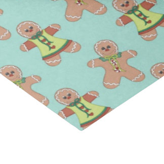 "Christmas Gingerbread Holiday pattern tissue paper 15"" X 20"" Tissue Paper"