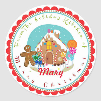 Christmas Gingerbread house baking stickers labels