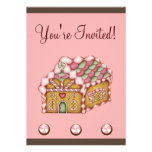 Christmas Gingerbread House Invitation
