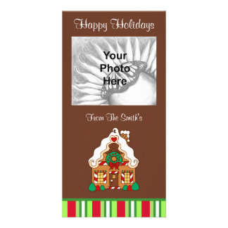 Christmas Gingerbread House Photo Card