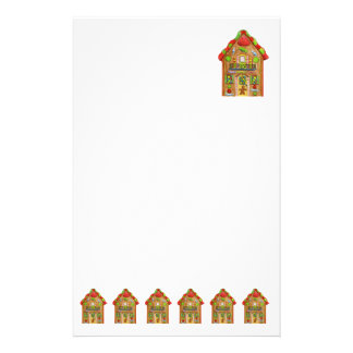 Christmas Gingerbread House Stationery