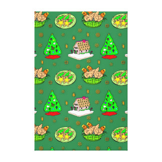 Christmas – Gingerbread Houses & Frosted Cookies Canvas Prints