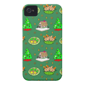 Christmas – Gingerbread Houses & Frosted Cookies Case-Mate iPhone 4 Case