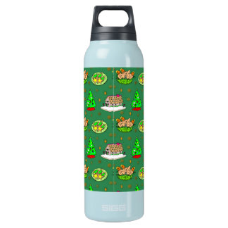 Christmas – Gingerbread Houses & Frosted Cookies Insulated Water Bottle