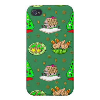 Christmas – Gingerbread Houses & Frosted Cookies iPhone 4/4S Cover