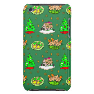Christmas – Gingerbread Houses & Frosted Cookies iPod Touch Case-Mate Case