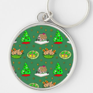 Christmas – Gingerbread Houses & Frosted Cookies Keychain