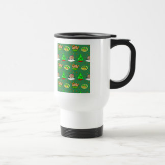 Christmas – Gingerbread Houses & Frosted Cookies Stainless Steel Travel Mug