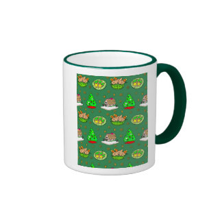 Christmas – Gingerbread Houses & Frosted Cookies Ringer Mug