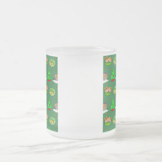 Christmas – Gingerbread Houses & Frosted Cookies Frosted Glass Mug