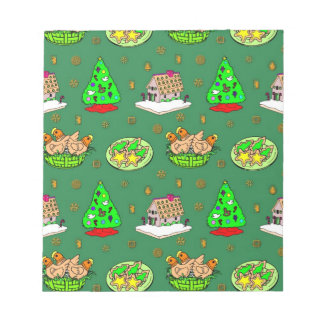 Christmas – Gingerbread Houses & Frosted Cookies Memo Notepad