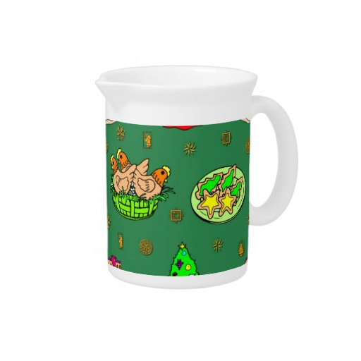Christmas – Gingerbread Houses & Frosted Cookies Beverage Pitcher