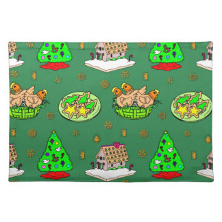 Christmas – Gingerbread Houses & Frosted Cookies Cloth Placemat