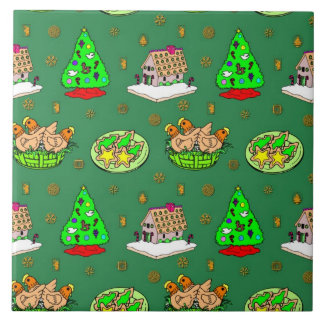Christmas – Gingerbread Houses & Frosted Cookies Tile