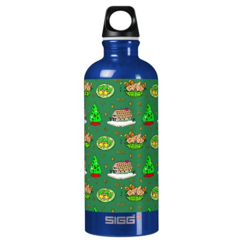 Christmas – Gingerbread Houses & Frosted Cookies Water Bottle