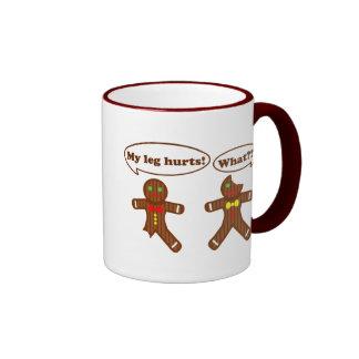 Christmas Gingerbread Humor Ringer Mug