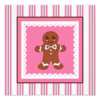 Christmas Gingerbread Invitation